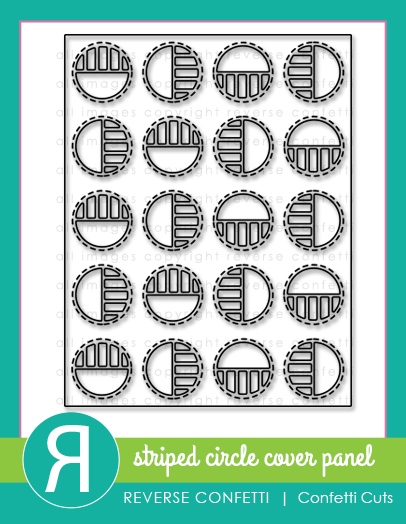 Striped Circle Cover Panel Confetti Cuts