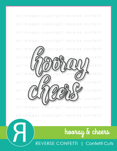 Hooray & Cheers Word Duos Confetti Cuts