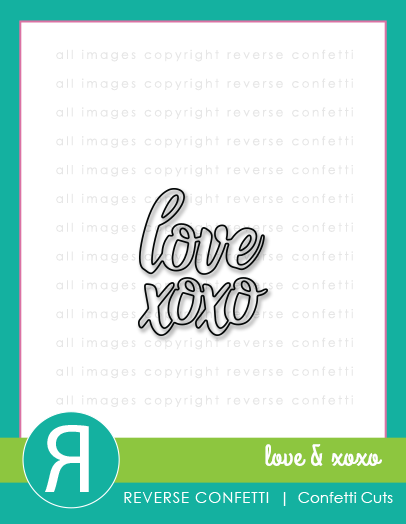 Love & XOXO Word Duos Confetti Cuts