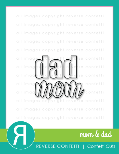 Mom & Dad Word Duos Confetti Cuts