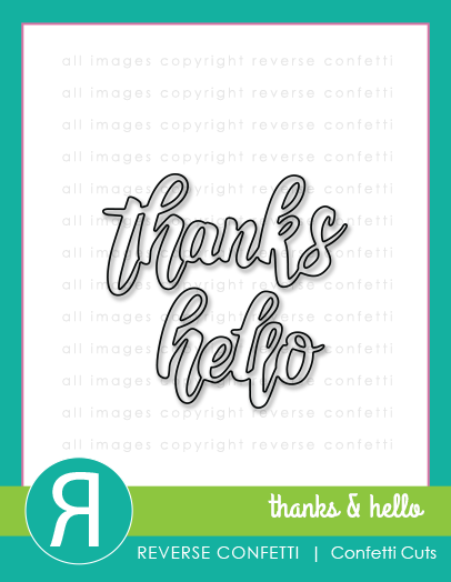 Thanks & Hello Word Duos Confetti Cuts