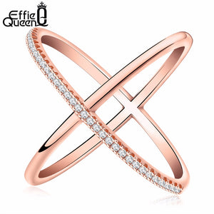 Effie Queen New Big Cross Ring Fashion jewelry