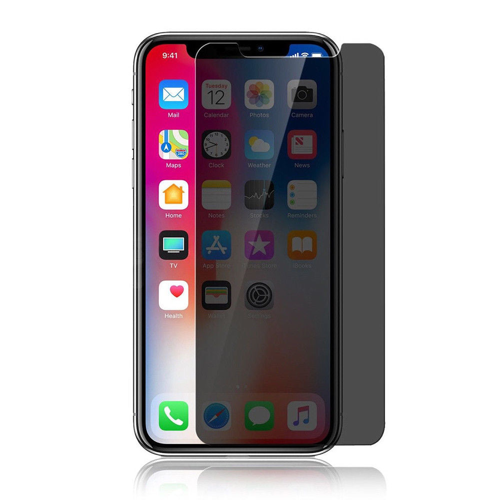 new style 42c63 4581c iPhone XS Max Tempered Glass Privacy Screen Protector - ( 1 Pcs )