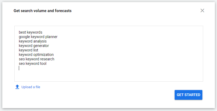 Get search volume and forecasts