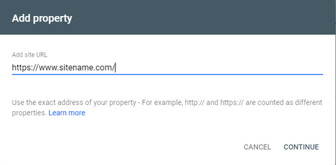 Verify site in Search Console