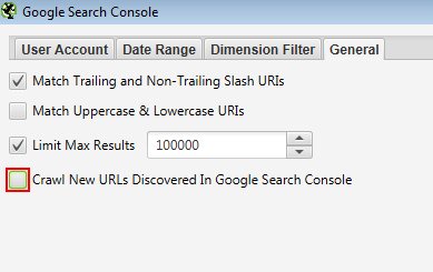 Crawl new URLs discovered in Search Console