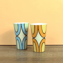 Glazed Stoneware Highball Tumbler with Stardust Pattern