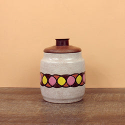 Glazed Stoneware Jar with Overlapping Circles