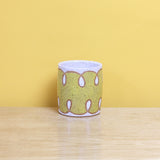 Glazed Stoneware Tumbler with Loop Pattern
