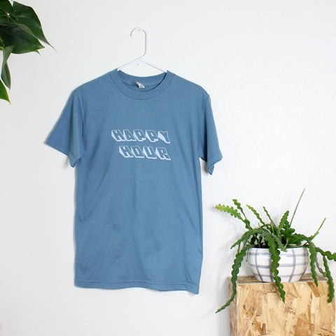 Short Sleeve Happy Hour T-Shirt in Slate Blue