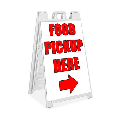 Food Pickup Here - Plasticade Signicade® - Milweb1