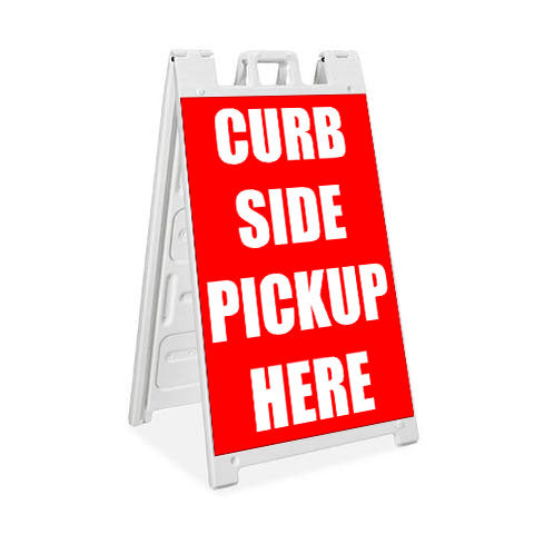 Curbside Pickup Here - Plasticade Signicade® - Milweb1
