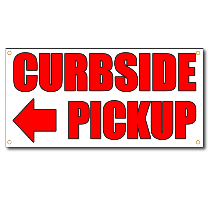 Curbside Pick Arrow Left - 13oz Vinyl Banner - Milweb1