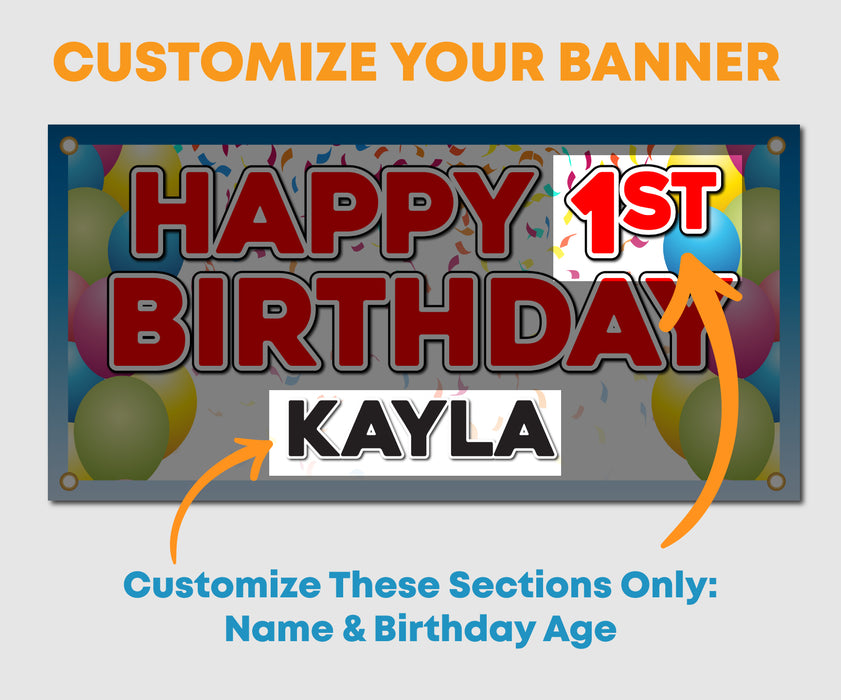 Happy Birthday Vinyl Banner - Milweb1