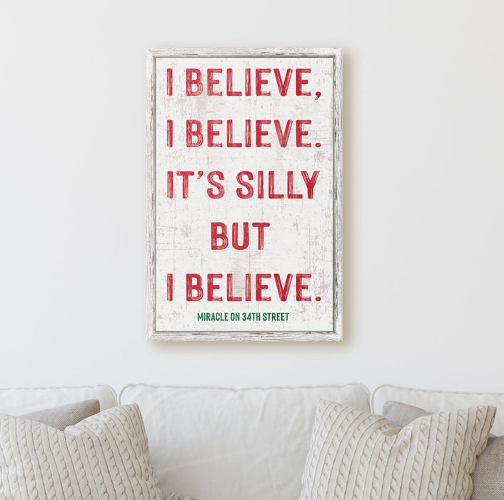 I Believe - Miracle on 34th Street - Canvas Print - Milweb1
