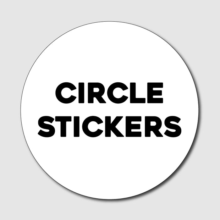 Custom Circle-Cut Sticker - Milweb1