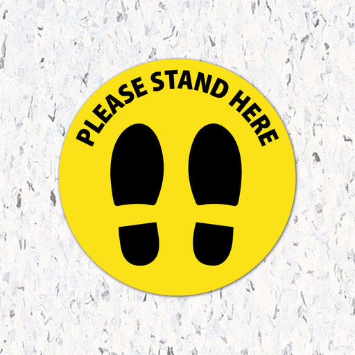 Please Stand Here with Feet - Floor Decal - Milweb1