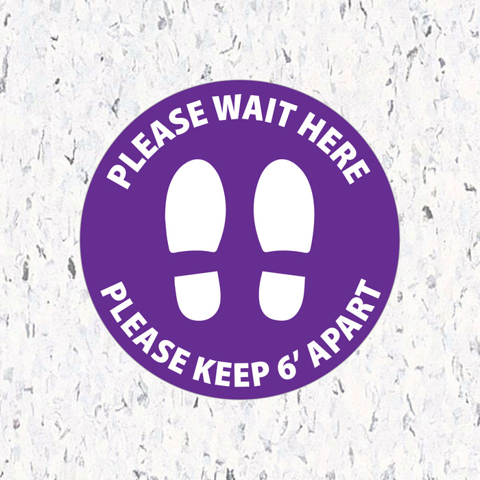 Please Wait Here Stand 6' Apart - Milweb1