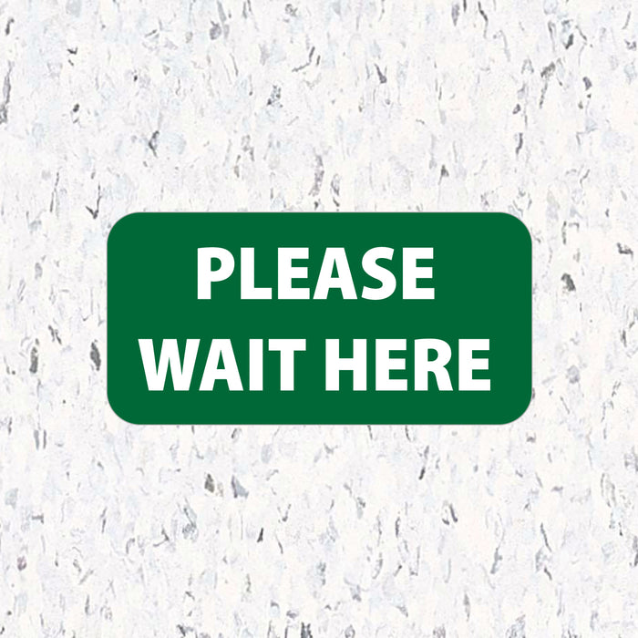 Social Distancing Floor Decals - Please Wait Here - Rectangle Packs - Milweb1