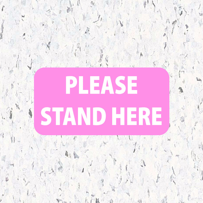 Social Distancing Floor Decals - Please Stand Here - Rectangle Pack