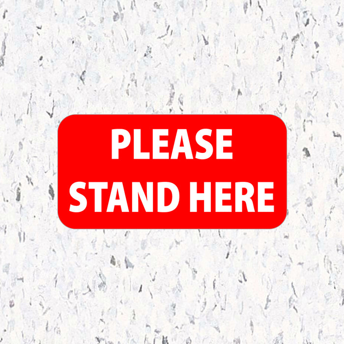 Social Distancing Floor Decals - Please Stand Here - Rectangle Pack - Milweb1
