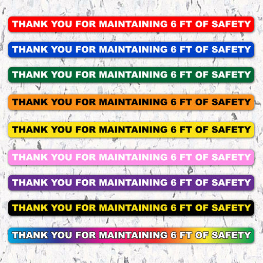 Thank You For Maintaining 6 FT of Safety - 10 Packs - Milweb1