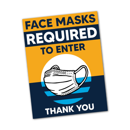 "Milwaukee Flag Themed - Face Mask Required To Enter Window Decal 7.5"" X 10"" - Milweb1"