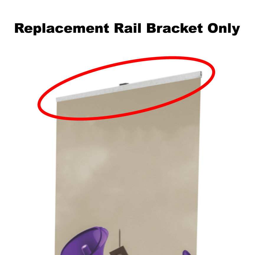 "31"" Retractable Banner Stand - Replacement Rail Bracket - Milweb1"