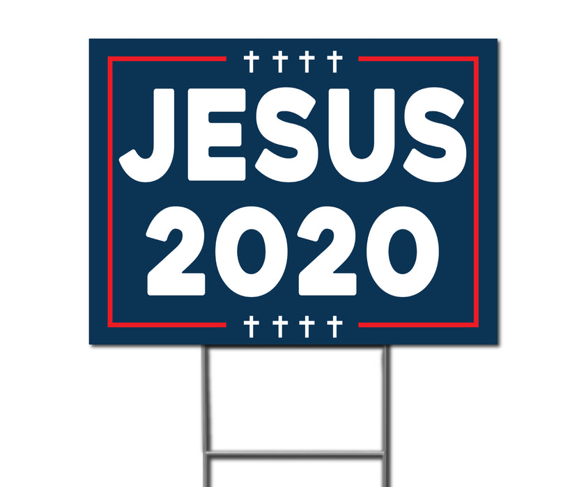Jesus 2020 Double-Sided Yard Sign with Stake - Milweb1