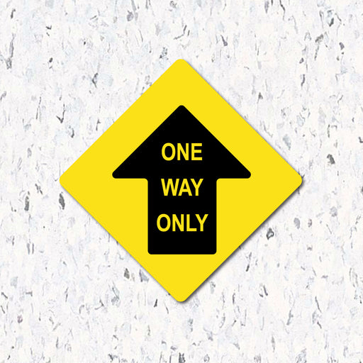 One Way Only Arrow - Diamond Shaped - Milweb1