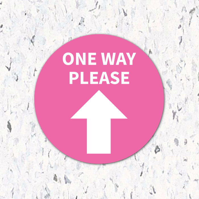 One Way Please Arrow - Floor Decal - Milweb1