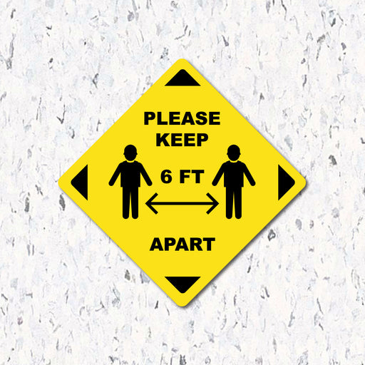 Please Keep 6 Feet Apart - Diamond Shaped - Milweb1