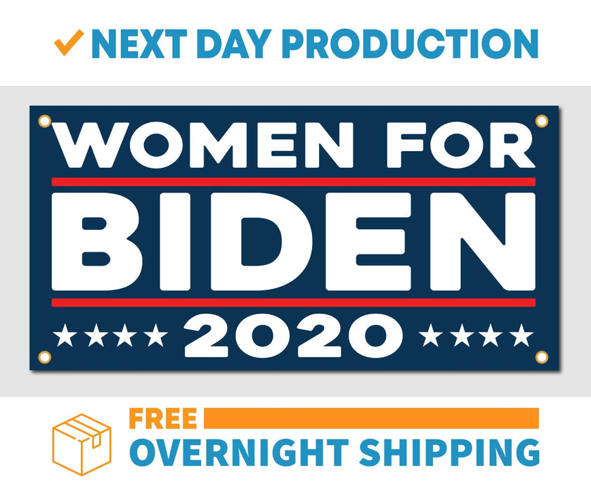 Women for Joe Biden 2020 - Vinyl Banner - Sign - Free Overnight Shipping - Milweb1