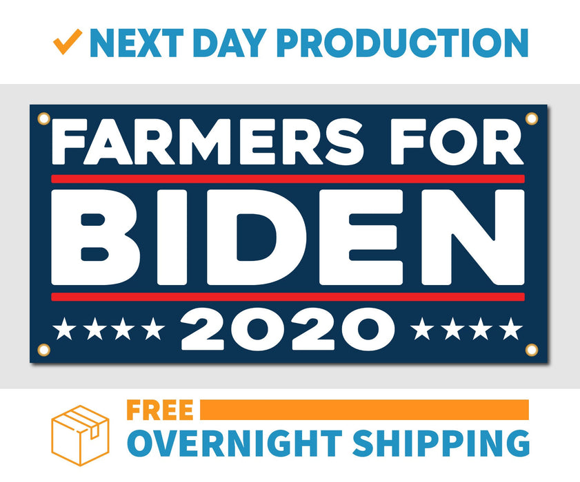 Farmers for Joe Biden 2020 - Vinyl Banner - Sign - Free Overnight Shipping - Milweb1