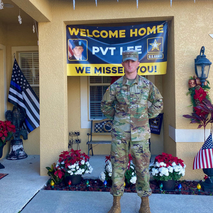 Welcome Home U.S. Army / United States Military Customizable with Photo - Vinyl Banner - Sign - Free Overnight Shipping - Milweb1