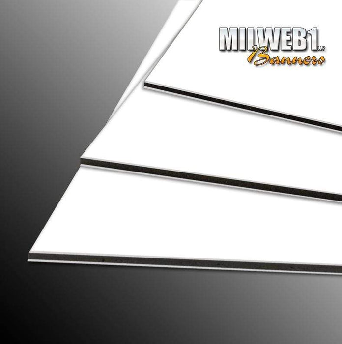 "12""x18"" 3MM (1/8) Aluminum - Round Corners, Holes with 3M Vinyl - Milweb1"