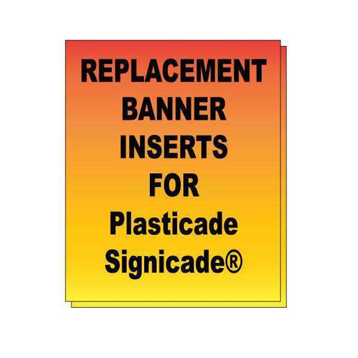 Replacement Banner Inserts for Plasticade Signicade® - Milweb1