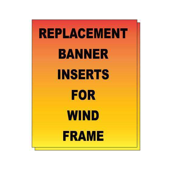 Replacement Banner Inserts for Wind Frame - Milweb1
