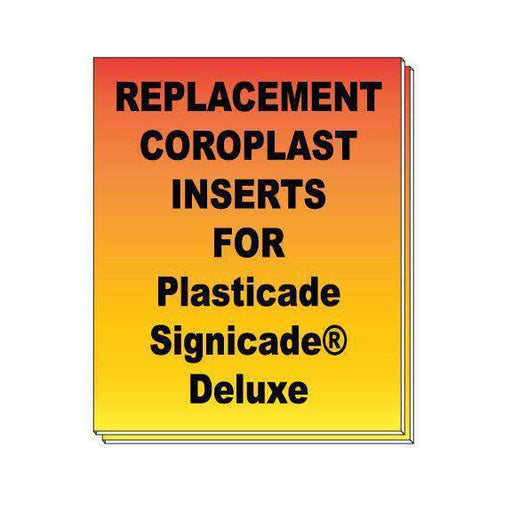 Double Sided - Replacement Coroplast Inserts for Plasticade Signicade® Deluxe - Milweb1