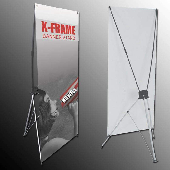 "24""x63"" X Banner Stand ONLY - Milweb1"