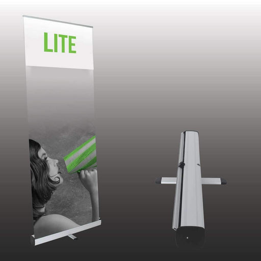 "31""x78"" Lite Retractable Banner Stand - Milweb1"