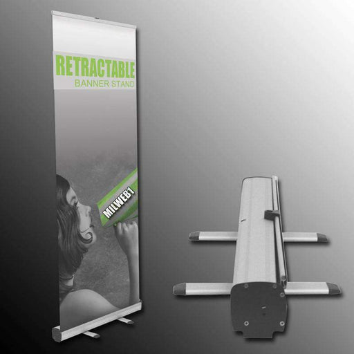 "31""x78"" Retractable Banner Stand - Milweb1"