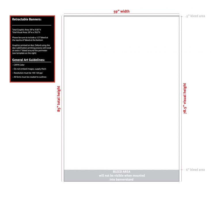 "59"" Retractable Banner Stand - Milweb1"