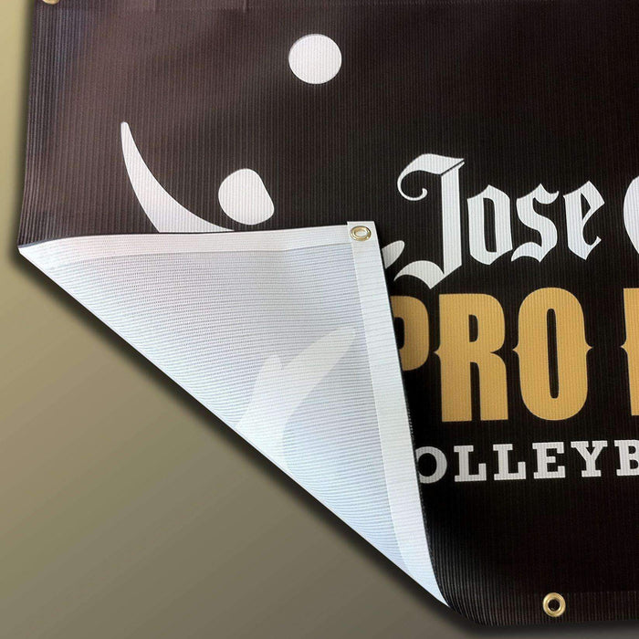 4'x20' Mesh Banner - Grommets, Edging + Next Day Rush Production - Milweb1