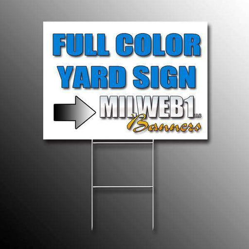 "12""x24"" Yard Sign - Milweb1"