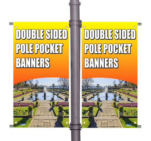 Twin Pole Banner - Double Sided with Hardware Set - Milweb1