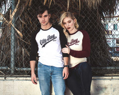 Oily Rag Clothing baseball inspired Moto retro motorcycles design raglan and sweat top