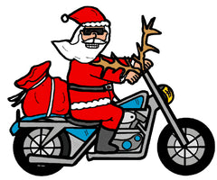 Dot 4 Distribution Motorcycle Biker Santa Collection