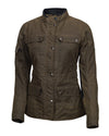 Roland Sands Design Ladies Ginger waxed cotton Motorcycle jacket