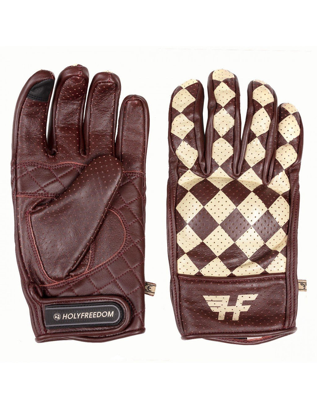 Holy Freedom 2021 Bullit Unsulto Burgundy and Cream Gloves